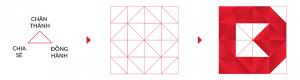 Tam giác vuông cân - biểu tượng kết nối vững chắc và bền chặt